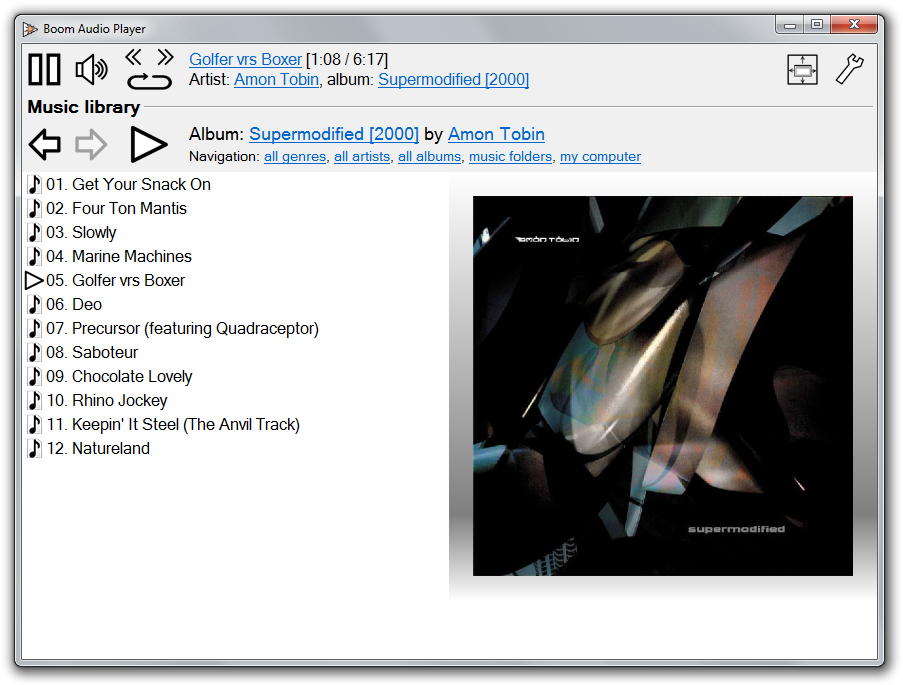 Full Boom Audio Player screenshot