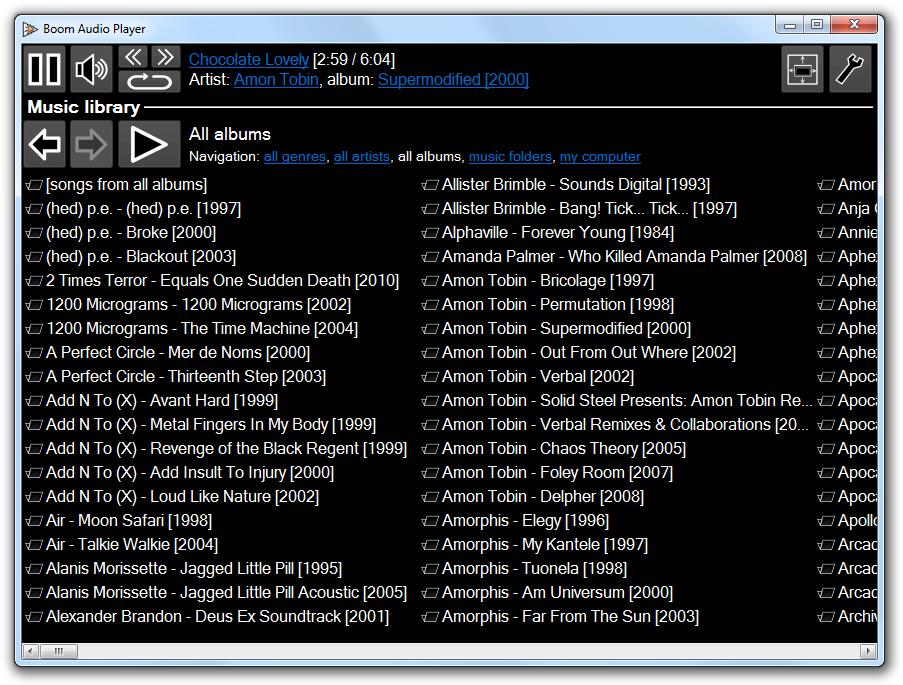 Boom Audio Player screenshot