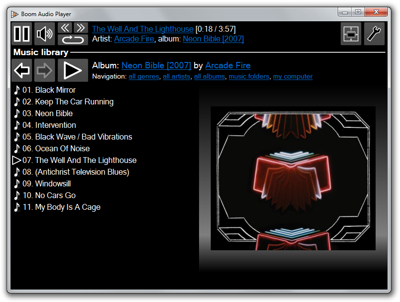 Boom Audio Player screenshot